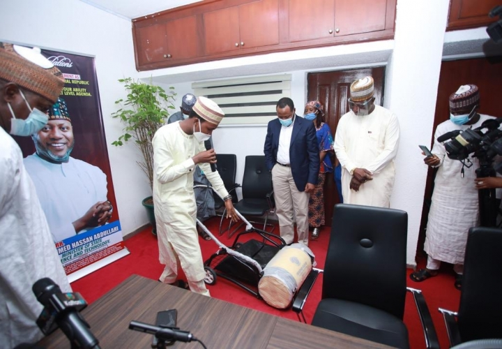 Nigerian Develops Tech Powered Walkway Sweeper,Ventilator